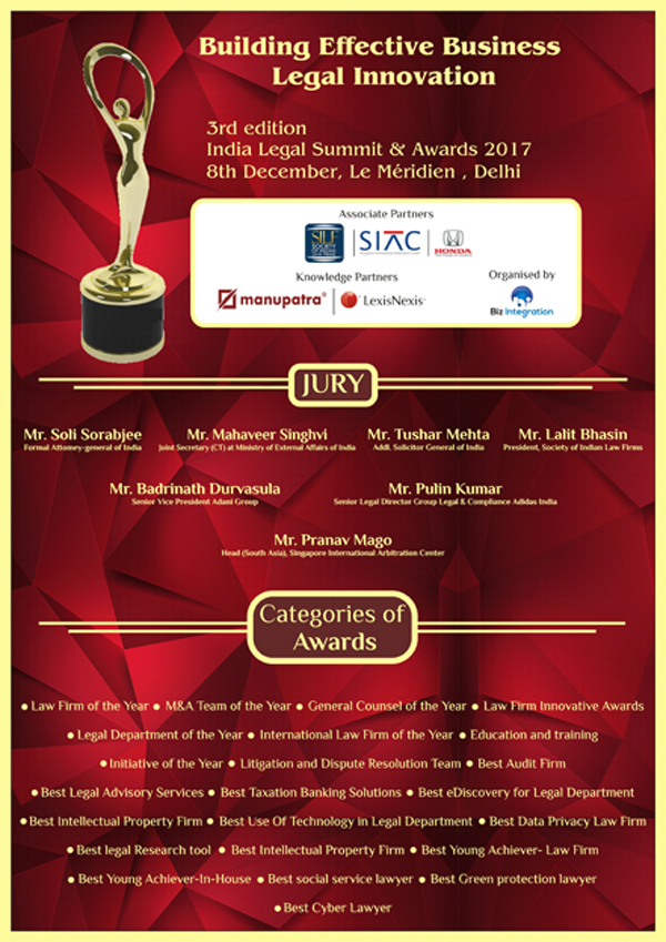 India Legal Summit & Award 2017 (3rd Edition)