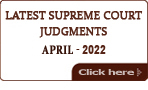 Latest Supreme Court of India Judgments 2018