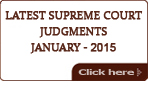 Latest Supreme Court Judgments 2015